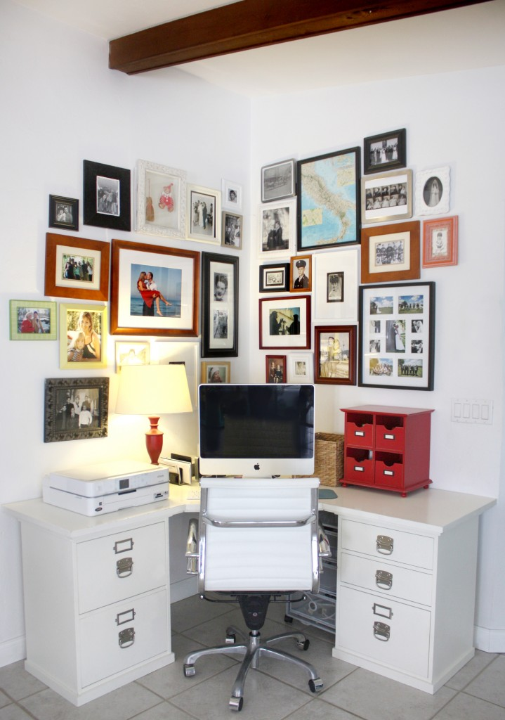 Home Office Photo Wall