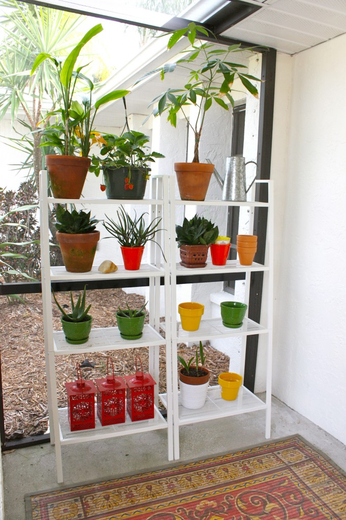 Outdoor ikea lerberg shelves