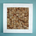 bulletin board from wine corks