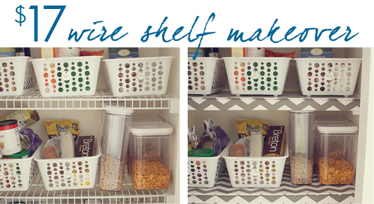 easy wire shelf makeover