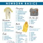 Newborn basics registry checklist