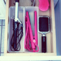 Flat iron cord organizing