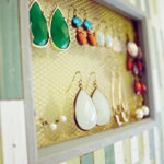 Earring organize with frame