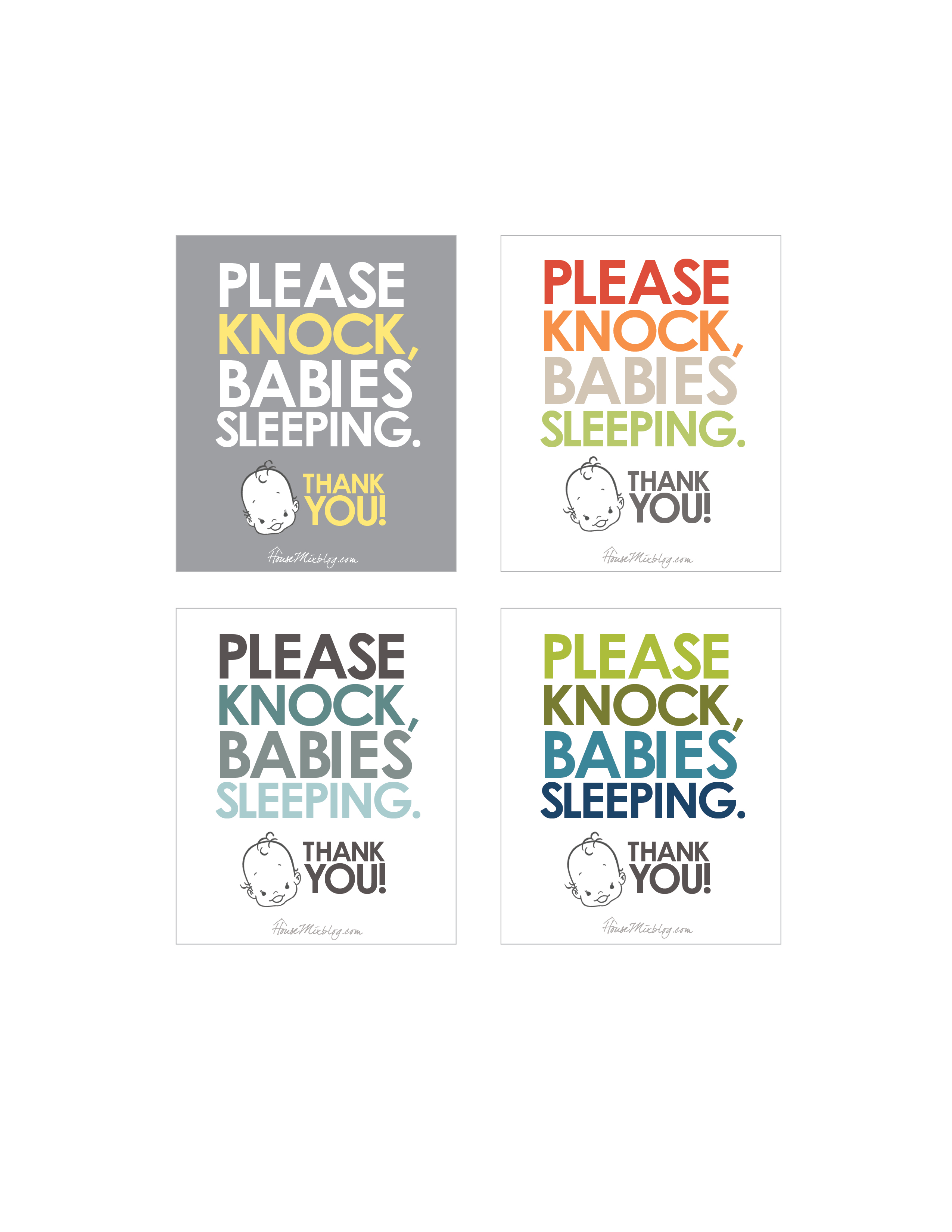 photograph about Baby Sleeping Sign Printable called Absolutely free \