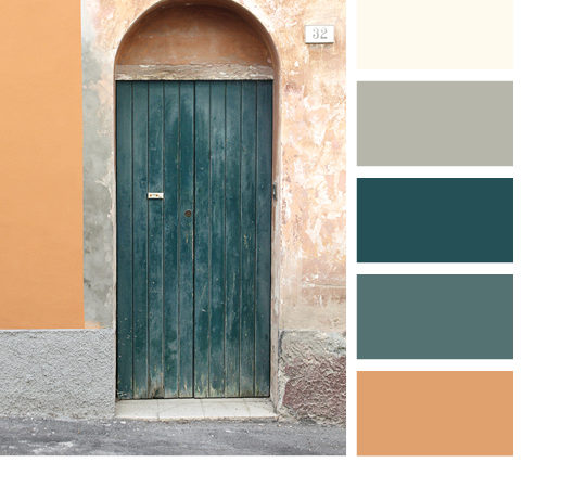 Italian door color palettes