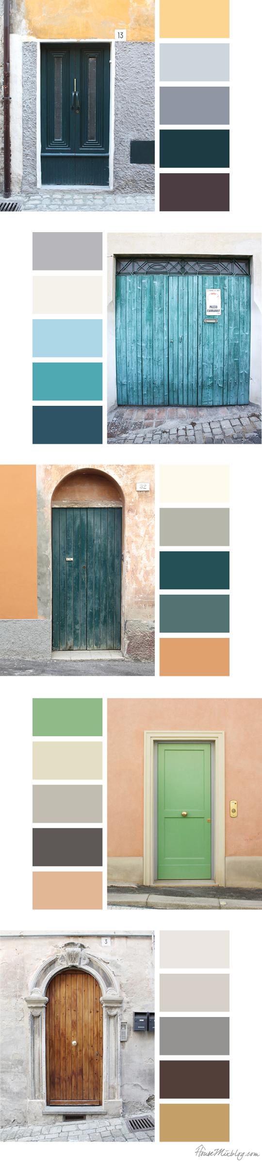 Italian door color palettes