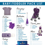 Travel part 3: Pack list, outfits for baby and toddler