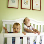 Baby and toddler room sharing