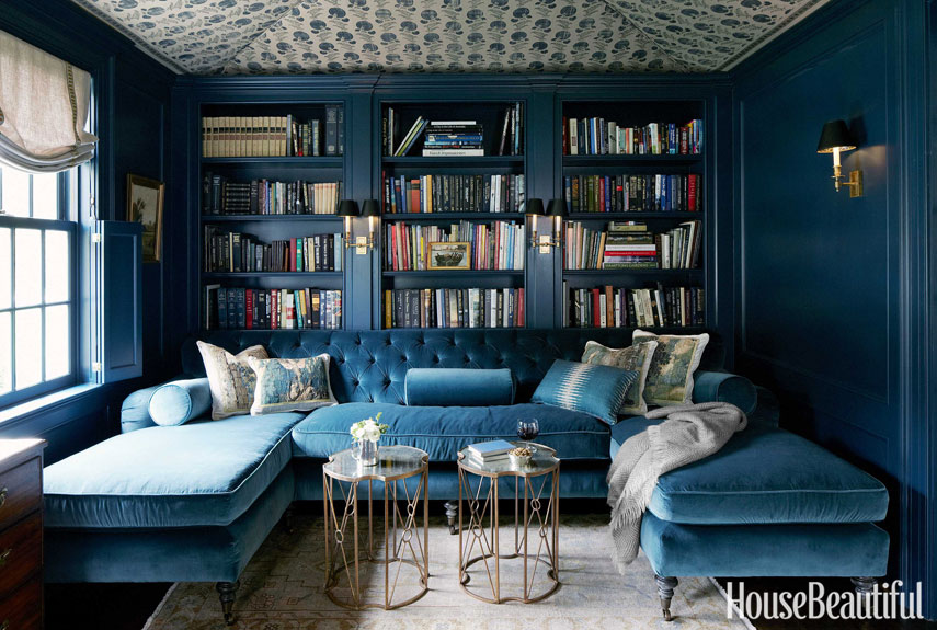 8 Navy Blue Library And Study Ideas House Mix