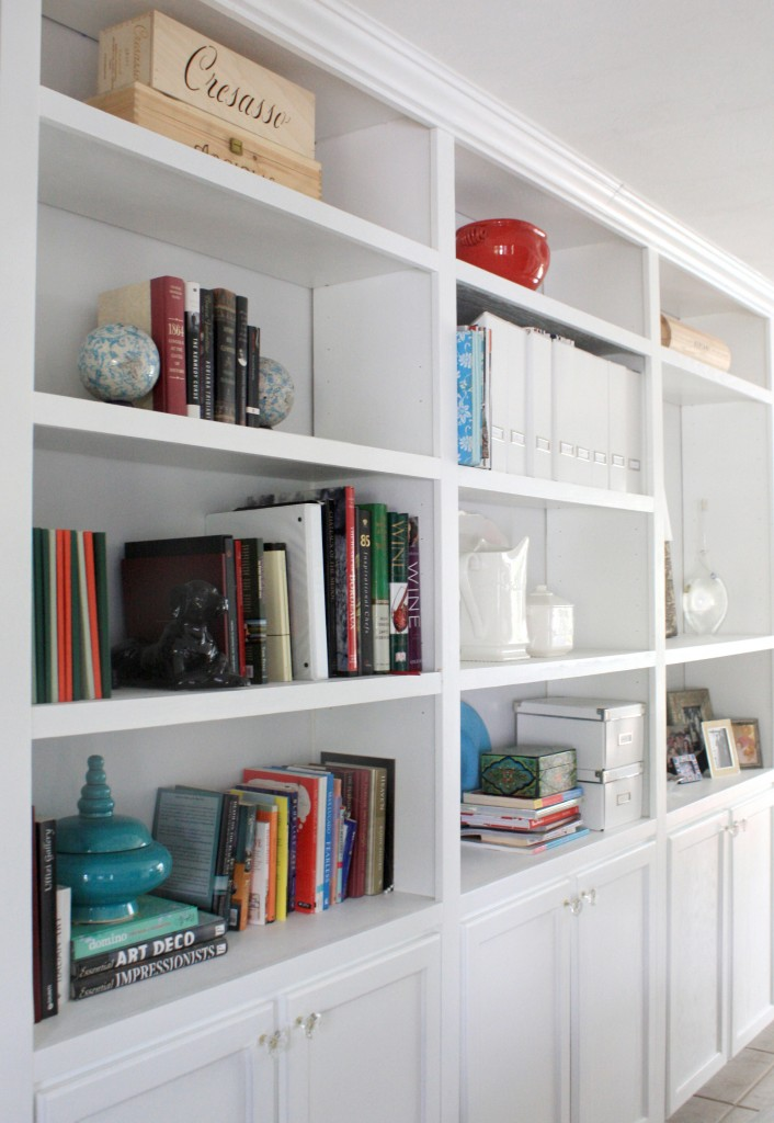 White Book Shelves Built Ins