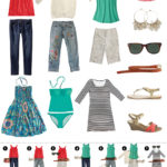 Packing for casual summer getaway