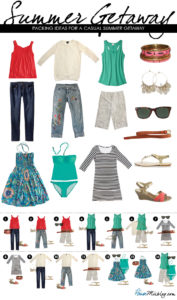 travel packing for summer getaway