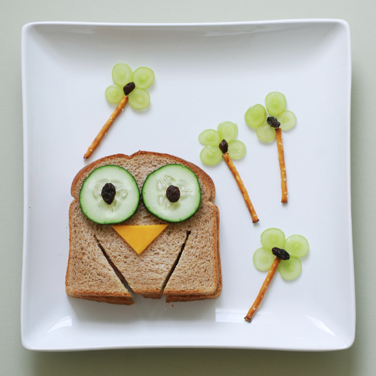 This owl sandwich by Sweet Little Peanut is adorable.