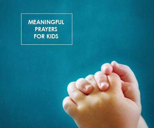 childs hands praying
