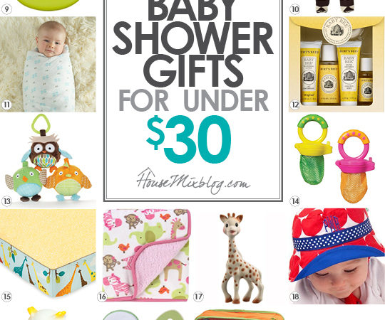 Baby Gift Baskets Under 30 : Baby shower gifts under house mix