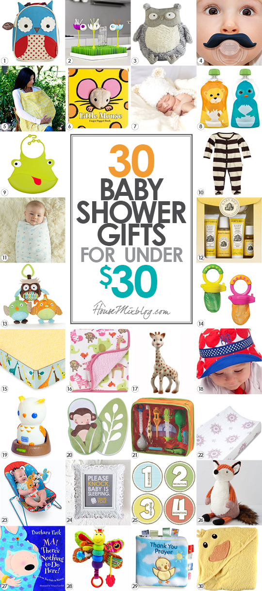 baby shower gift ideas under 30 dollars