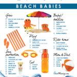 Beach checklist for kids
