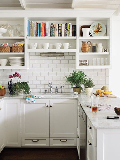 Medium image of source  vt interiors white kitchen with pops of color and open shelving