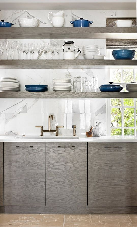 Kitchen Ledge Shelf Decorating Ideas