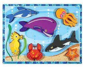 Melissa & Doug Sea Life Wooden Chunky Puzzle