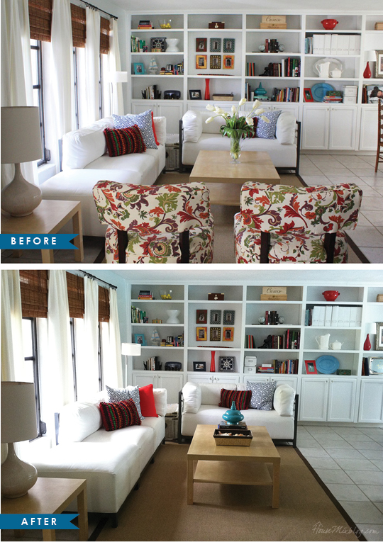 Rearranging Furniture Before And After home staging remove furniture before and after pictures