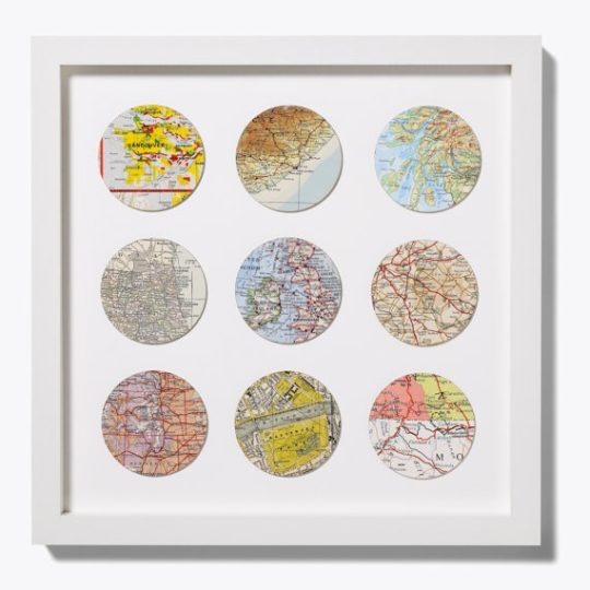 DIY recycle map as artwork - circles