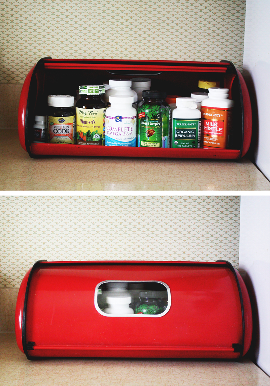 Bread Box As Pill Bottle Storage House Mix