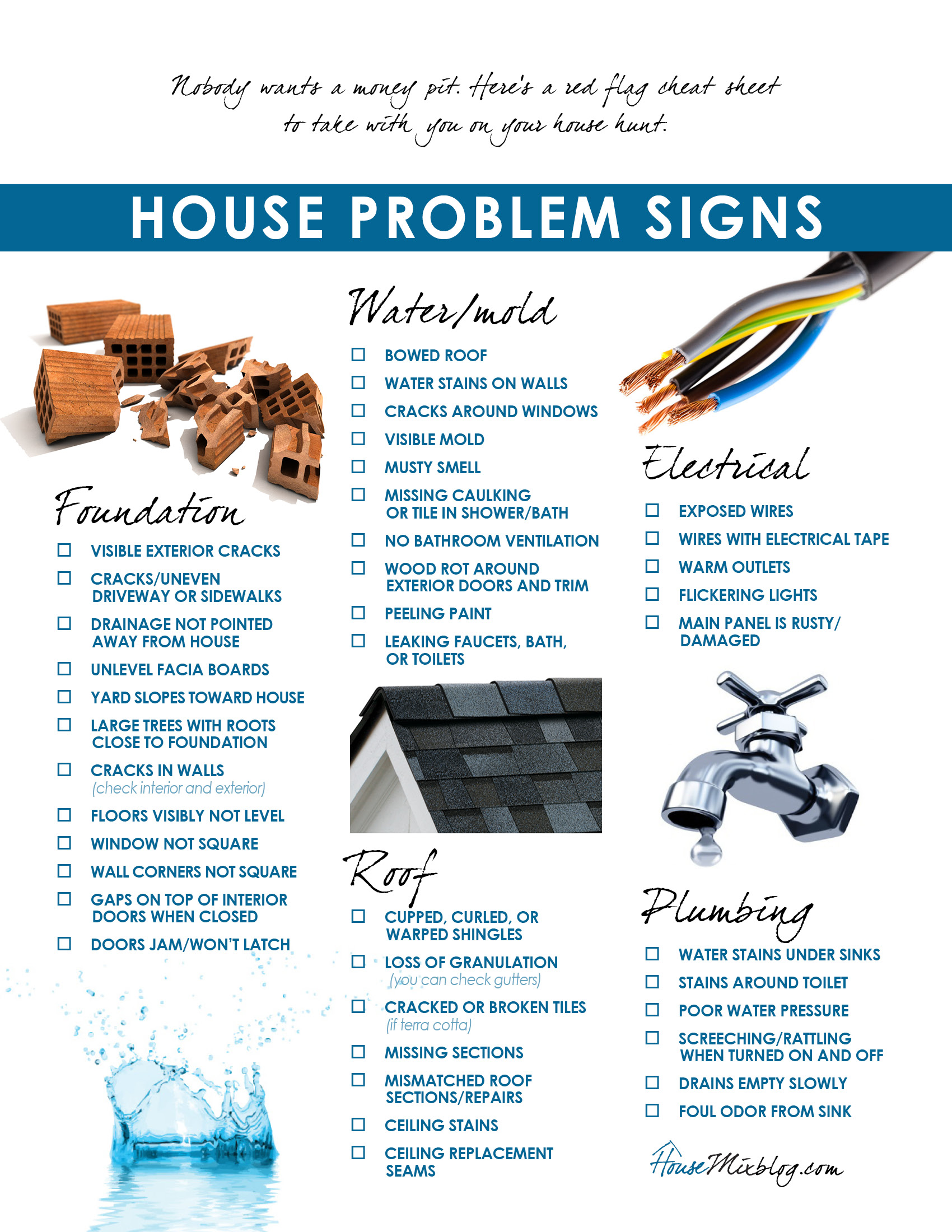 Moving part 3 problems to look for when buying a house for New home building checklist