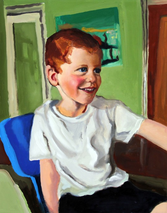 filbert and bright -portrait painting of boy - nicky