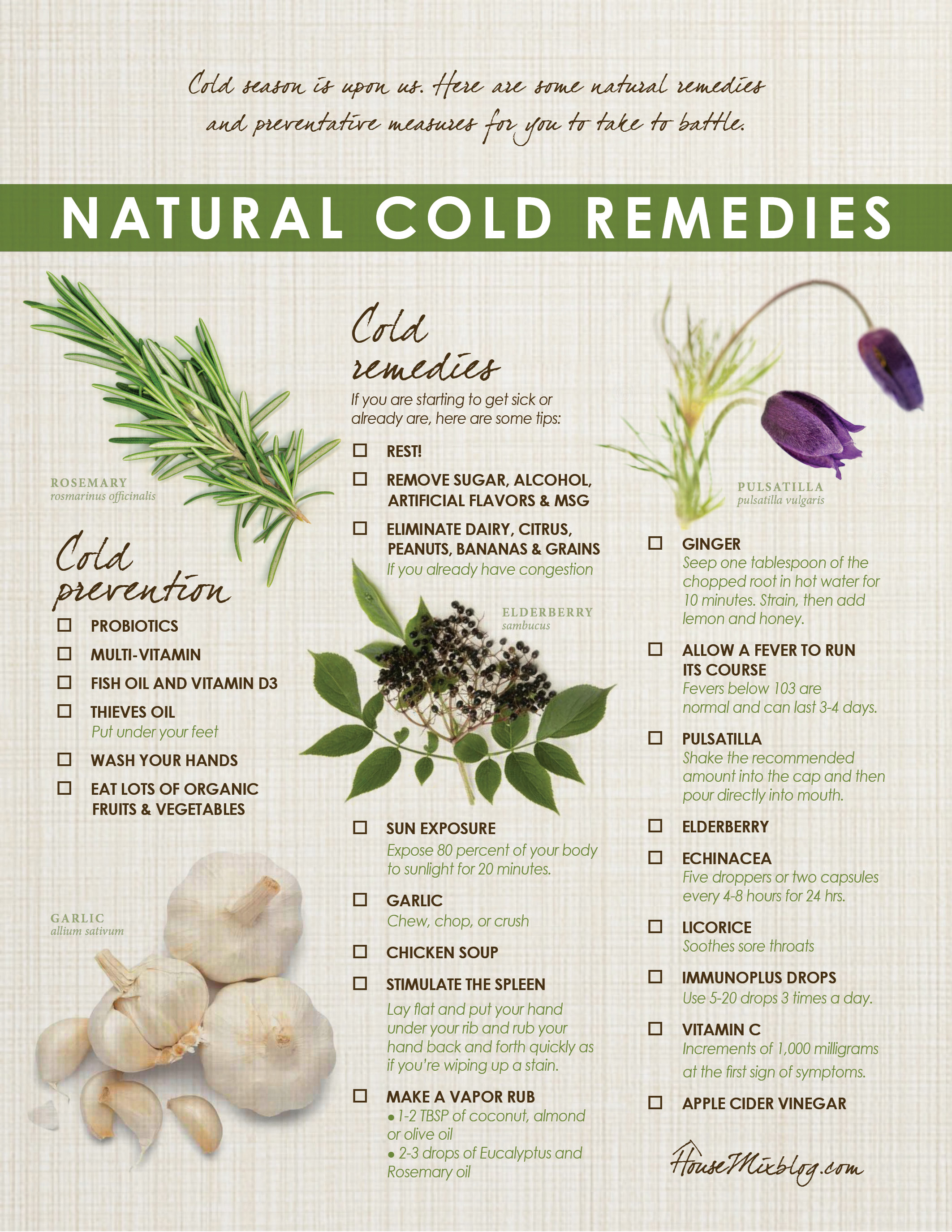 cold causes for sores herbs natural