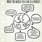 Dialog between the world and a mom