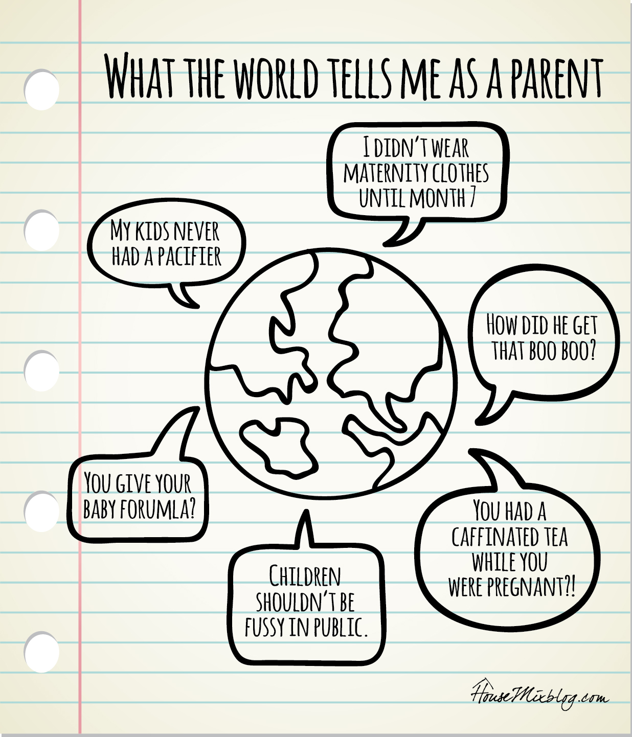 mom judgement - what the world tells me as a parent
