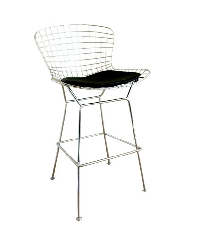 Baxton Studio Taddeo Mesh Bar Stool