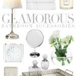 Glamorous bathroom accessories