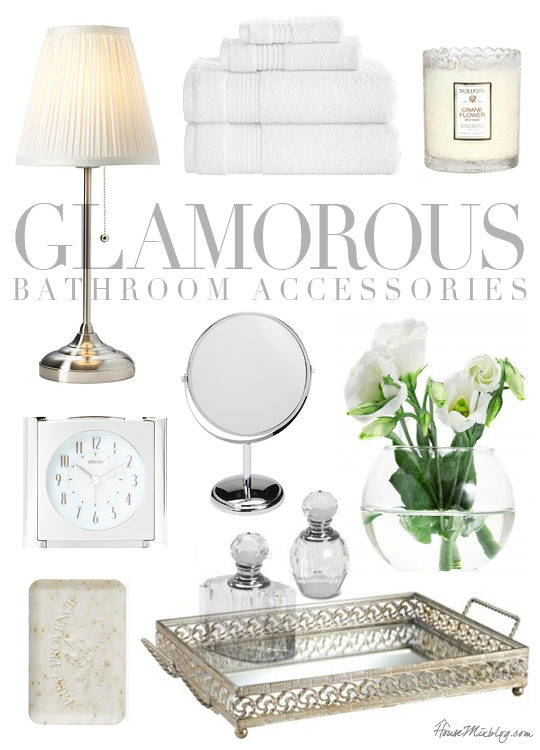 Glamorous bathroom accessories house mix for Black and silver bathroom sets