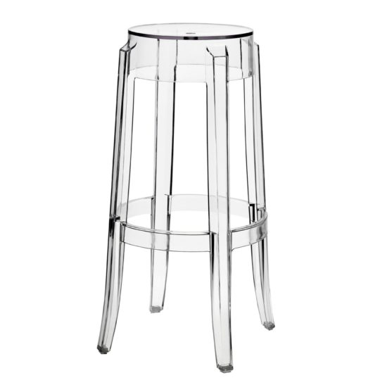 LexMod Philippe Starck Style Charles Ghost Bar Stool