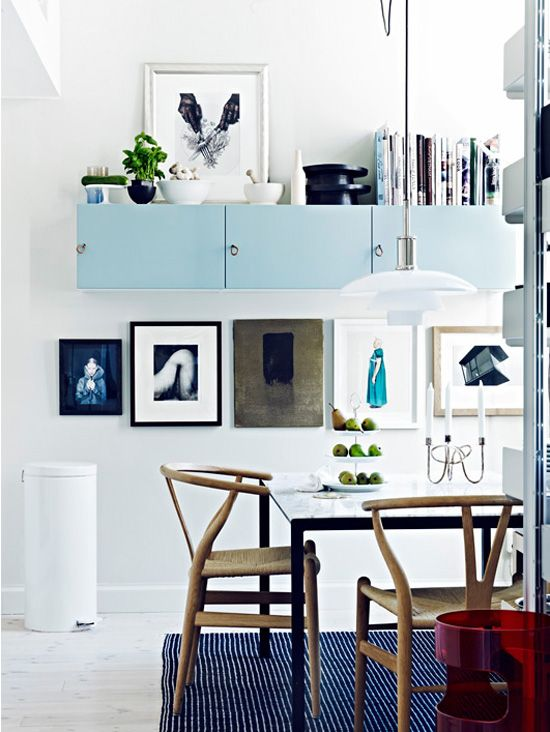 big blank wall solutions blue and white