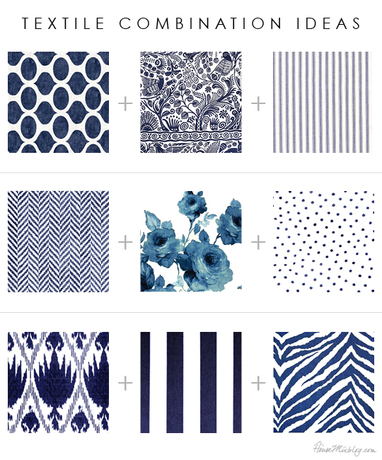 Blue textile combination ideas