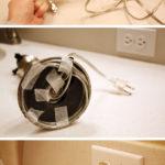 How to shorten a lamp cord