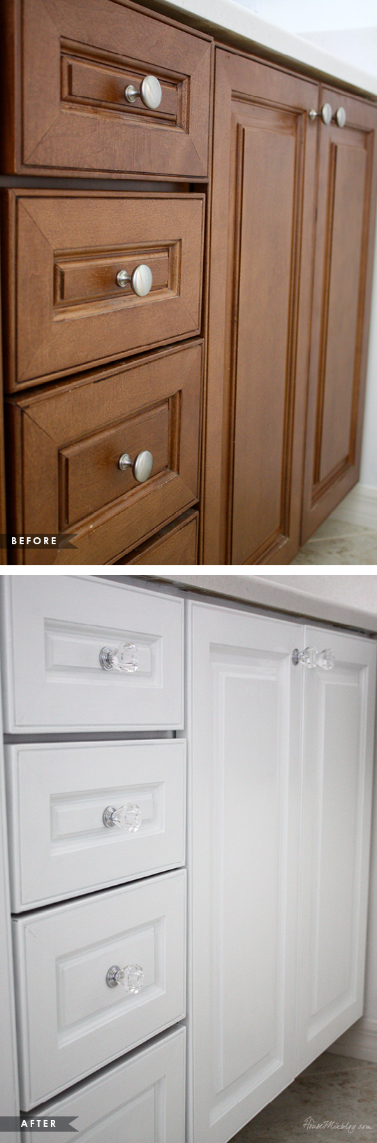 Delicieux How To Paint Cabinets Without Removing Doors Using One Can   Before And  After