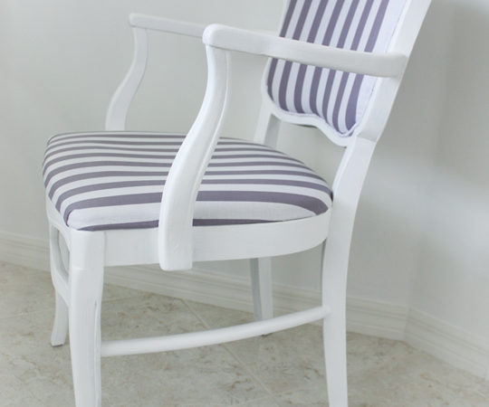 How to reupholster an occasional chair tutorial