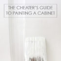 The cheaters guide to painting a cabinet - without removing any doors