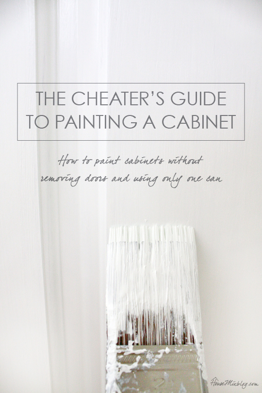 The cheaters guide to painting a cabinet without removing doors