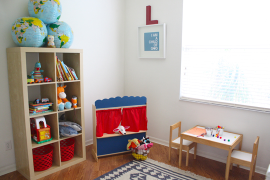 blue green and red nursery 6