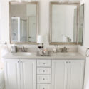 Glamorous white and silver bathroom