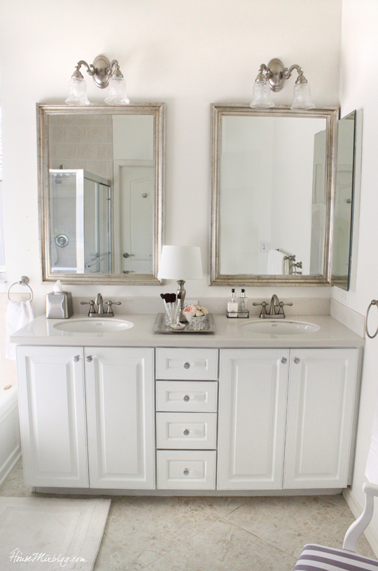 Glamorous Master Bathroom Update House Mix