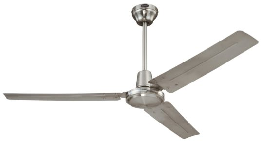 Here it is in brushed nickel. And also an amazing price at $74. Westinghouse Industrial 56-Inch Three-Blade Ceiling Fan-modern-Brushed Nickel