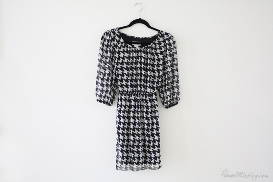 Black and white houndstooth dress from Ross Dress for Less - My mom budget