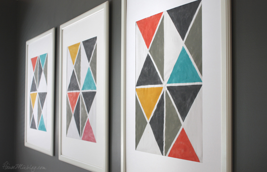 Diy Triangle Artwork With Tape House Mix
