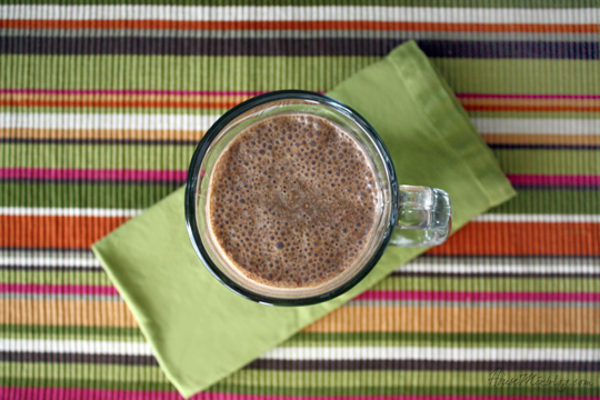 Simple healthy delicious chocolate smoothie